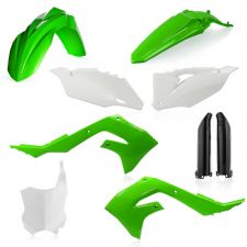 New KXF 450 2019 19 OEM Green White Black Acerbis Plastic Kit Motocross KXF450